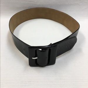 Appears to be New Ann Taylor Black Patent Belt